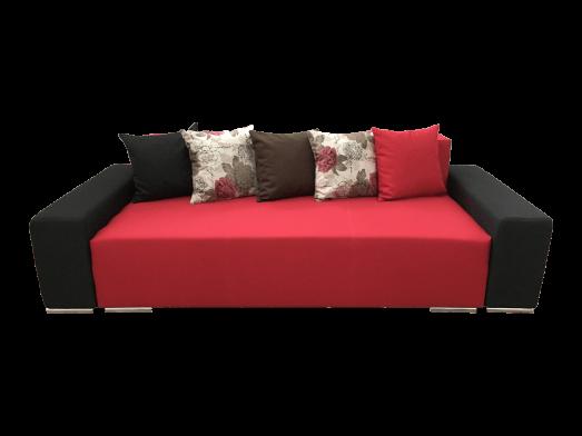 Canapea extensibilă roșu cu negru - URBAN