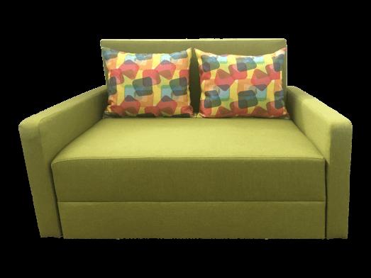 Canapea extensibilă 2 locuri verde - model ISABEL
