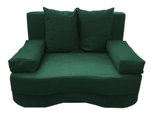 Canapea extensibilă cu ladă depozitare, verde închis - model JUNIOR