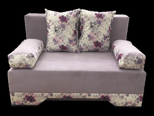 Canapea extensibilă 2 locuri lila - NICO