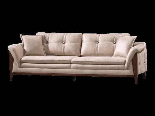 Canapea fixă crem - model BIANCA