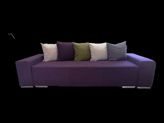 Canapea extensibilă 3 locuri mov - URBAN