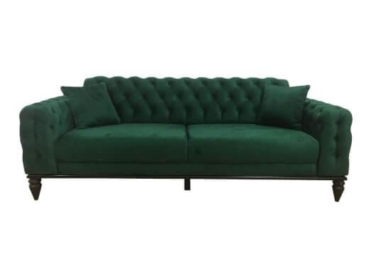Canapea living, 3 locuri, verde - model JASMINE