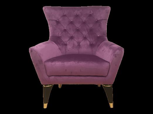 Fotoliu cu tapițerie roz deschis - model LIZBON