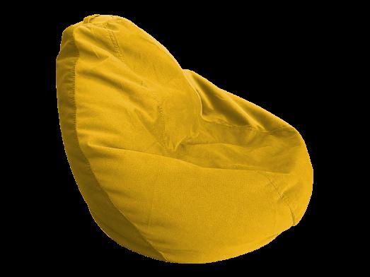Fotoliu puf cu husă detașabilă, galben închis - model DODOPUF