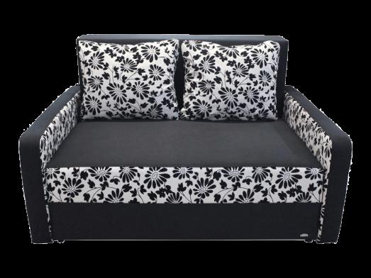 Canapea extensibilă 2 locuri negru cu alb - model ISABEL