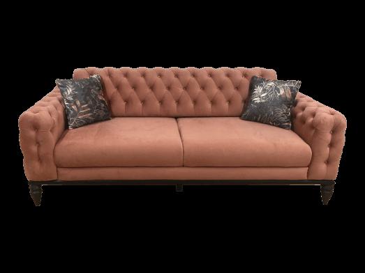 Canapea 3 locuri, roz pudra - model JASMINE
