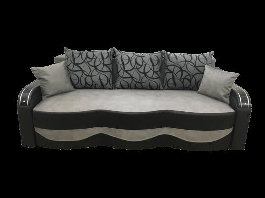 Canapea extensibilă gri negru - model MILANO