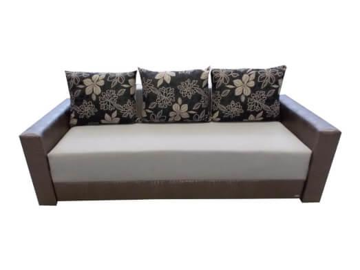 Canapea extensibilă 3 locuri, gri cu wenge - model MONACO