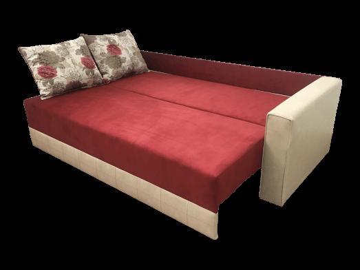 Canapea extensibilă 3 locuri, roșu cu crem - model MONACO