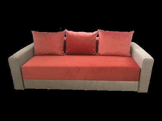 Canapea extensibilă 3 locuri, roșu cu gri - model MONACO
