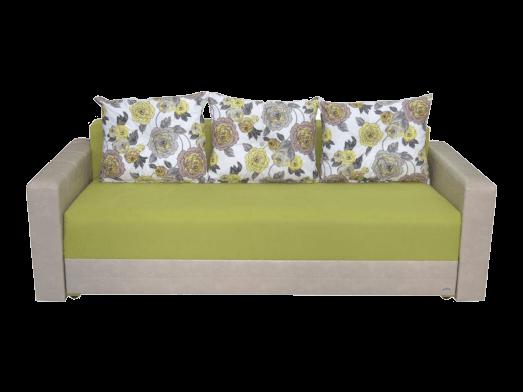 Canapea extensibilă 3 locuri, verde cu cappuccino - model MONACO