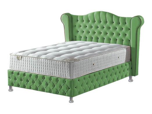 Pat-tapițat-verde-pal-cu-somieră-rabatabilă---model-GLAMOUR-13