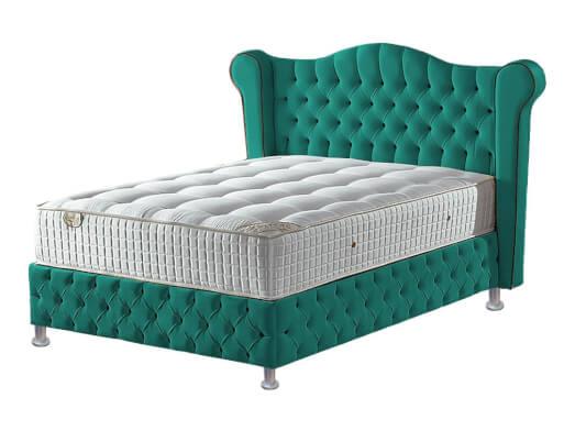 Pat-tapițat-verde-smarald-cu-somieră-rabatabilă---model-GLAMOUR-89