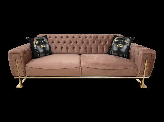Canapea 3 locuri, roz pudră - model ROLEX