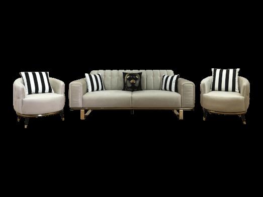 Set canapea 3 locuri cu 2 fotolii - model OTTO