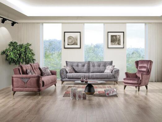 Set canapea 3 locuri cu 2 fotolii - model TORONTO