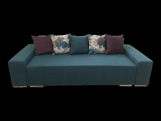 Canapea extensibilă 3 locuri albastru - URBAN