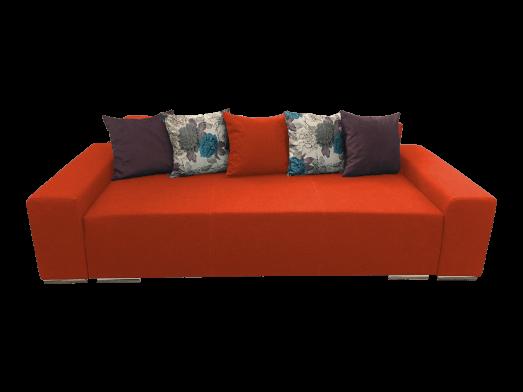 Canapea extensibilă 3 locuri portocaliu - URBAN