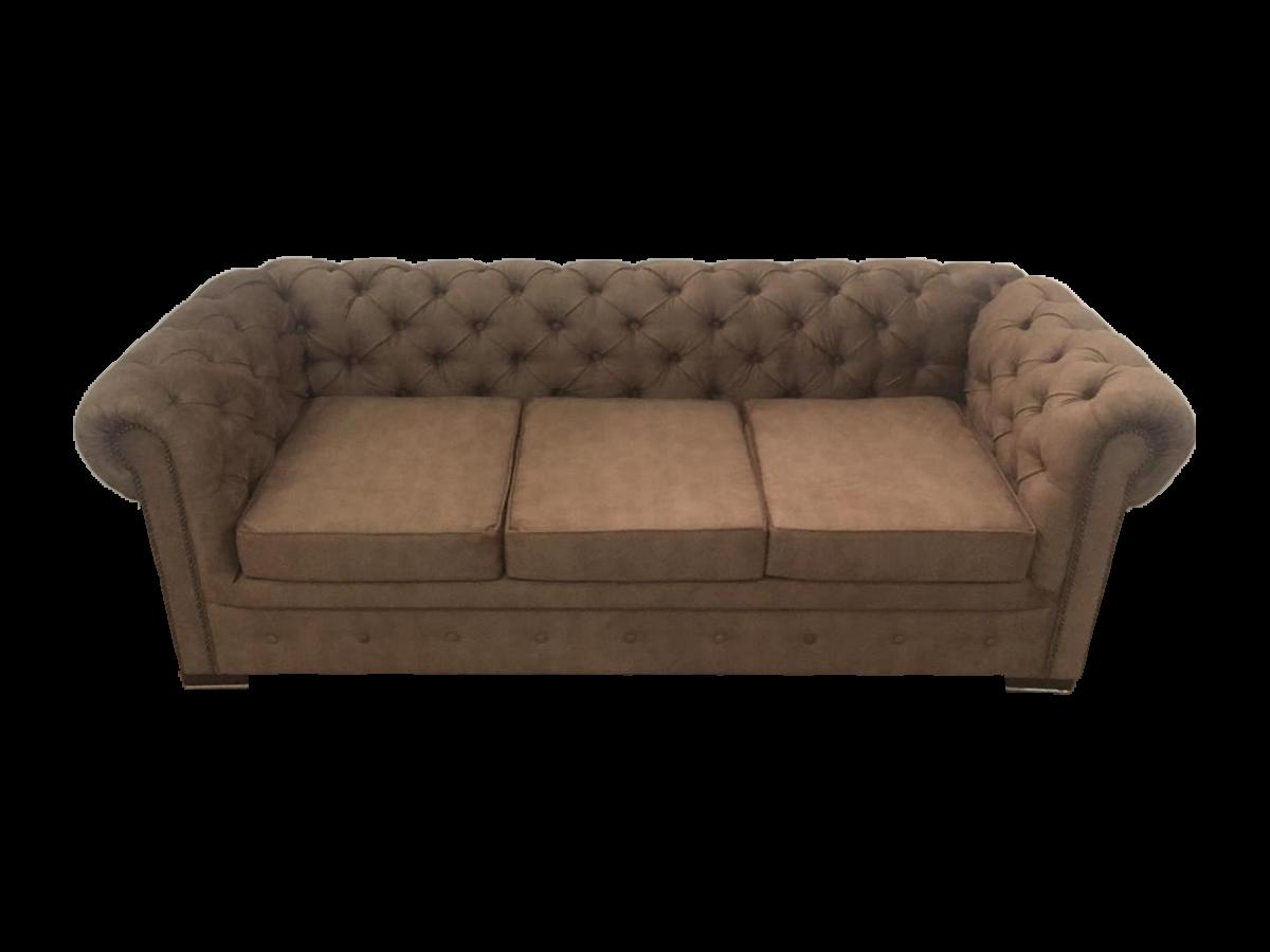 Canapea extensibilă 3 locuri, maro - model CHESTERFIELD