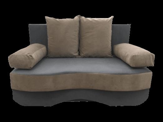 Canapea extensibilă 2 locuri gri-crem - JUNIOR