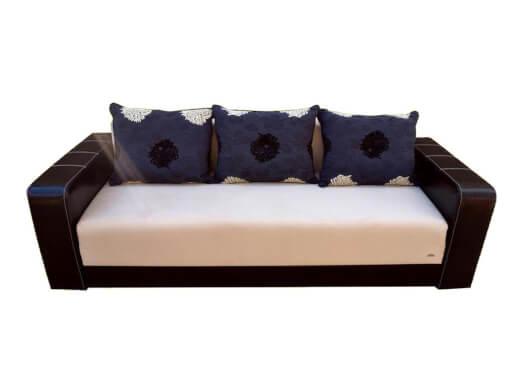 Canapea extensibilă crem cu wenge - model IONUȚ
