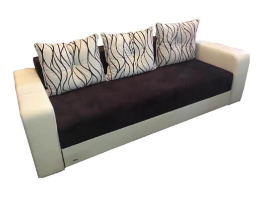 Canapea extensibilă maro cu crem - model IONUȚ