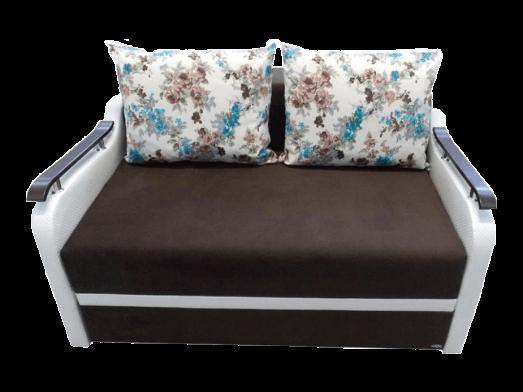 Canapea extensibilă 2 locuri maro cu alb - MARIA