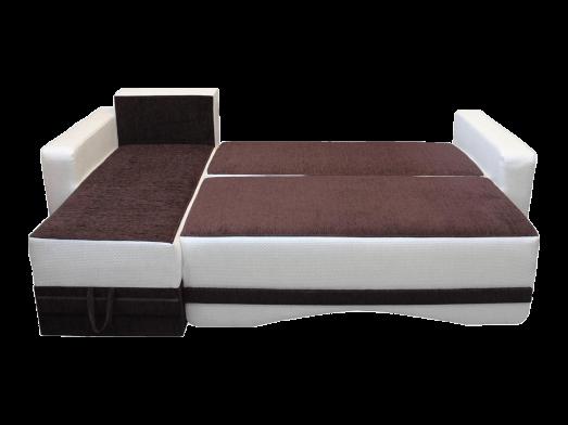 Colțar extensibil cu tapițerie maro - model MINI