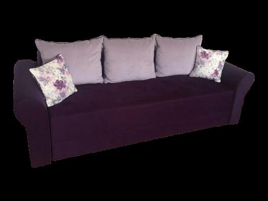 Canapea extensibilă 3 locuri, mov - model PARIS